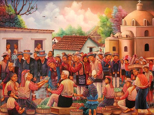 Antonio C. Ixtamer y Vicente Cumes Pop: Día de los reyes, 1993, 71.12 x 96.52 cm