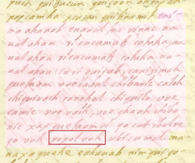 Folio 54r del manuscrito de F. Ximénez