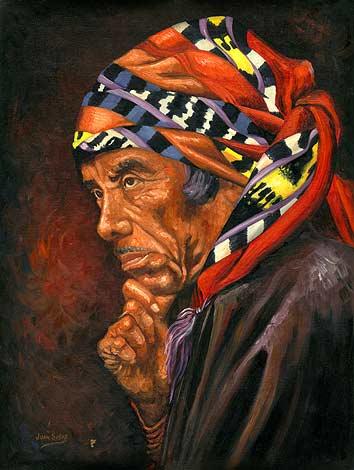 Juan Sisay (Miguel Chavez) 1989, 63.5 cm x 40.6 cm