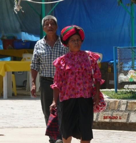 """Mayas wastekos, téenek en su idioma, (te'en inik, """"gente que ríe,"""" or tehe' inik, """"la gente de aquí mismo""""). El nombre """"wasteko"""" (huasteco) se deriva del nahuatl cuextecatl, un nombre usado por los aztecas que podría derivarse de dos palabras wastekas, kweech (enrrollado) and te' (árbol), en referencia a la corona de vides enrolladas que las mujeres wastekas usaban en sus cabezas."""