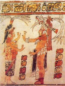 Escena sobre un vaso policromo. Período clásico tardío. 600-900 d.C.